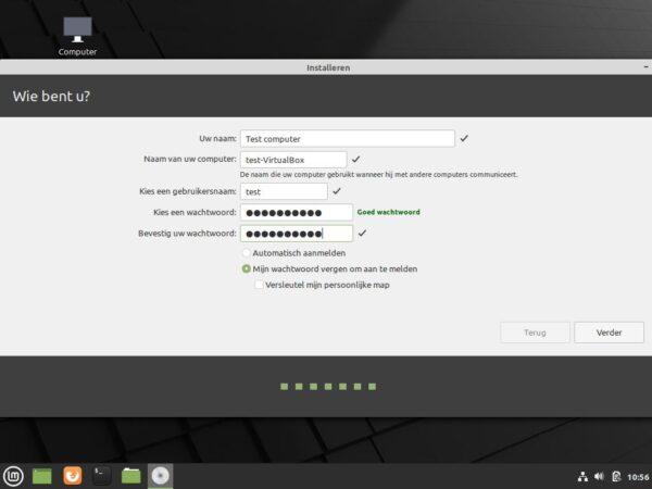 Computernaam en inlog gegevens