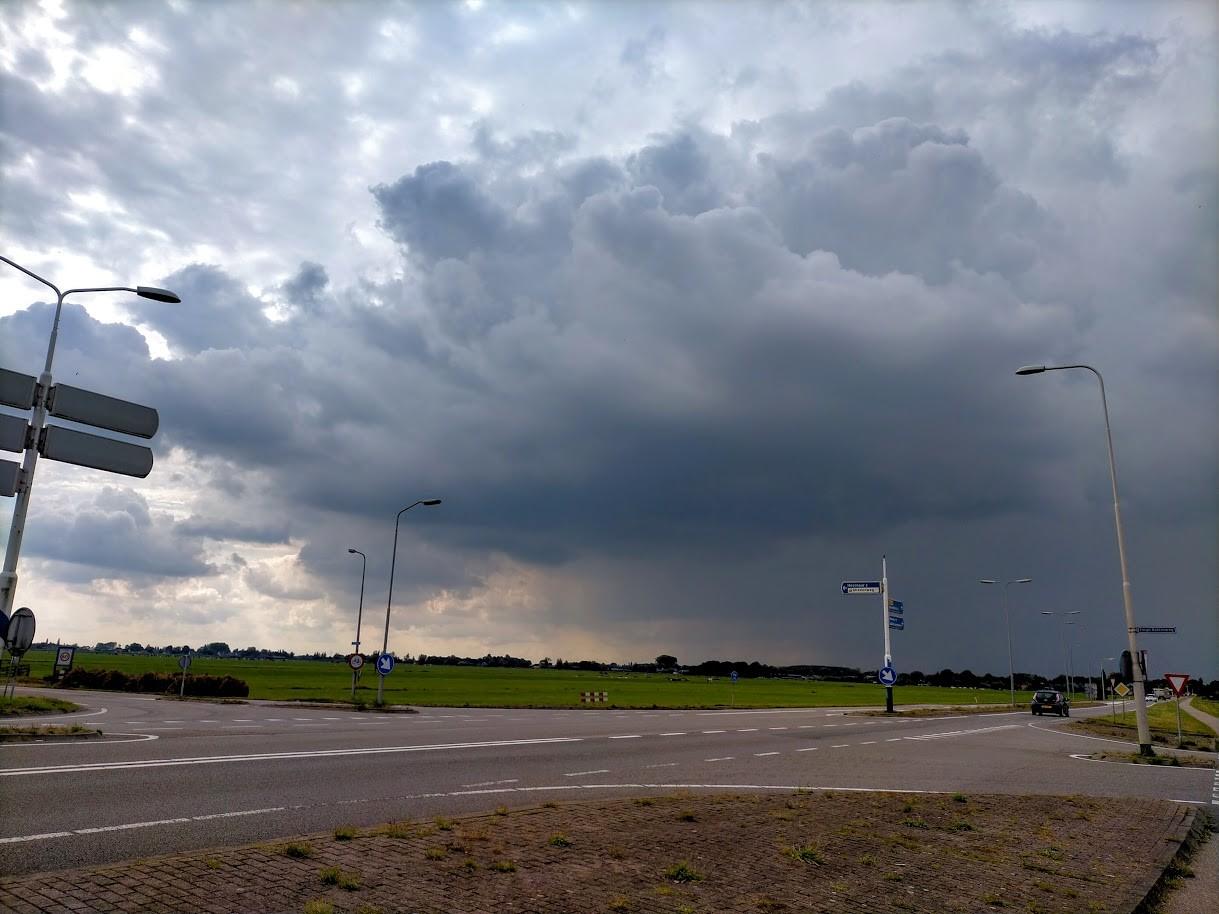 Regenbui onderweg